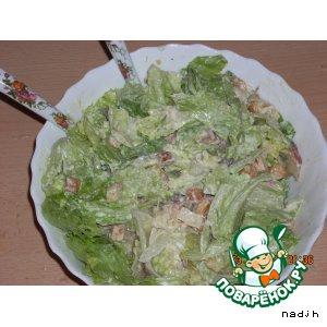 Рецепт: Салат с сухариками