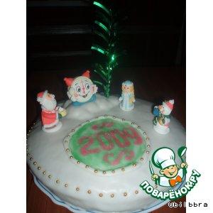 Рецепт: Торт Новогодняя поляна