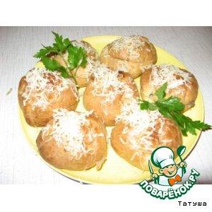 Рецепт: Эклеры с грибами Мировой закусон