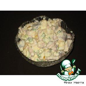 Рецепт: Салат из морепродуктов Сочный