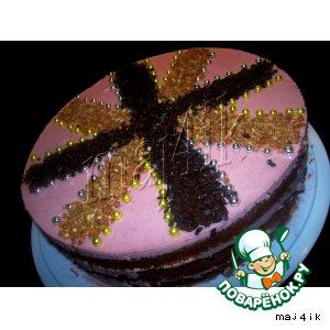 Рецепт: Быстрый вишнeво-сметанный торт без хлопот