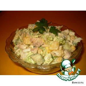Рецепт: Посленовогодний салат