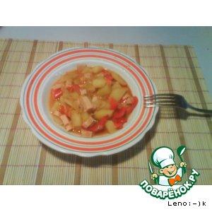 Рецепт: Patatas a la riojana-картофель по-риохски