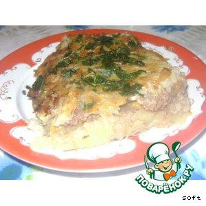 Рецепт: Пирог из картофеля с начинкой