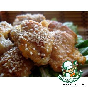 Рецепт: Цыпленок в медово-имбирном соусе по-китайски