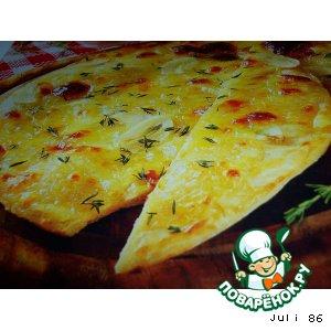 Рецепт: Пицца чесночная