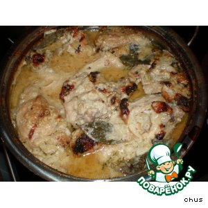 Рецепт: Курица в арахисовом соусе