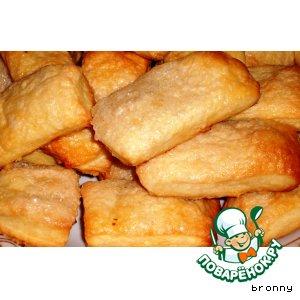 Рецепт: Сметанное печенье Золотые слитки