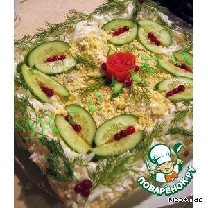 """Рецепт: Закусочный тортик """"Свет Рождества"""""""