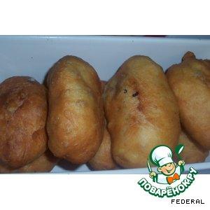 Рецепт: Пирожки с мясом(на сухом молоке)