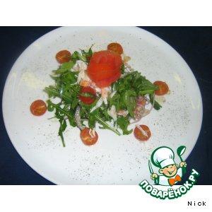 Рецепт: Салат из рукколы с крабом