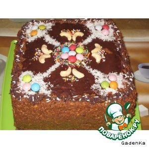 Рецепт: Торт «Негрустишка»