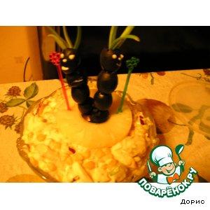 Рецепт: Салат Папуасы