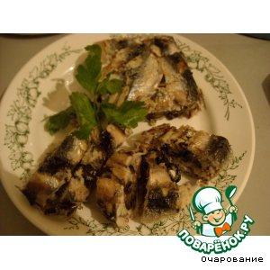 Рецепт: Салака с сыром и маслинами