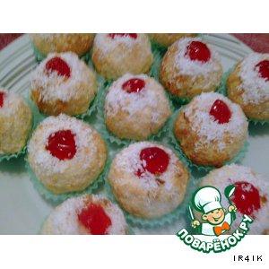Рецепт: Печенье Кокосики