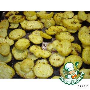 Рецепт: Картофель, запеченный в духовке