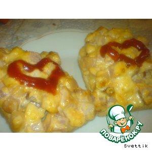 Рецепт: Горячие бутерброды С любовью