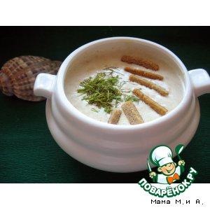 Рецепт: Лососевый крем-суп