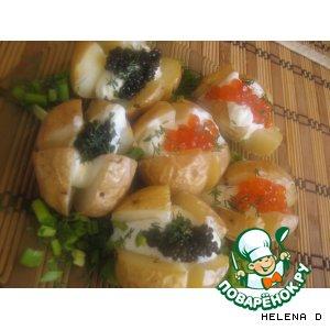 Рецепт: Молодой картофель с икрой