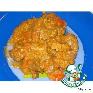 Рецепт: Баранина с овощами