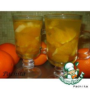 Рецепт: Яблочно-апельсиновый компот