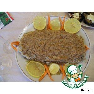 Рецепт Рыбный рулет с мясной начинкой
