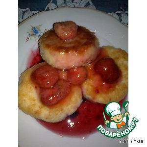 Рецепт: Биточки со сладким соусом или киселем