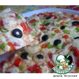 "Рецепт: Пицца ""Соблазнительница"""
