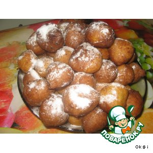 Рецепт: Пончики Хлопушки