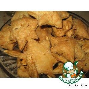 Рецепт: Сухое слоeное печенье Сырные звeзды