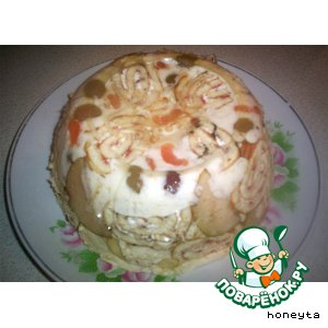 Рецепт: Заливной торт с фруктами