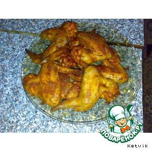 Рецепт: Крылышки в духовке