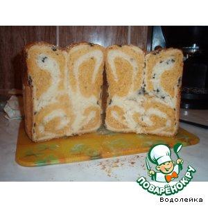 """Рецепт: Двухцветный хлеб """"Завитушка"""""""