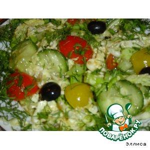 Рецепт: Салат овощной ассорти