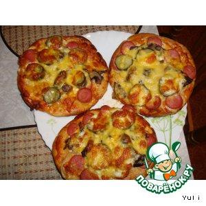 Рецепт: Пицца на пите