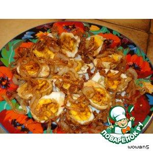 Рецепт: Закуска из варено-жареных яиц