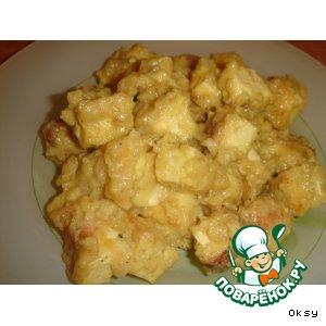 Рецепт: Тофу с медом и горчицей