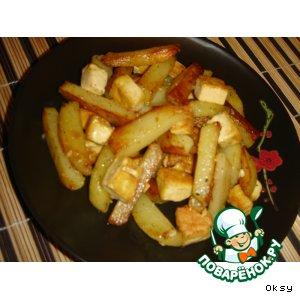 Рецепт: Жареный картофель с тофу