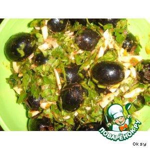 Рецепт: Маслины в соусе, или как  невкусные маслины сделать вкусными