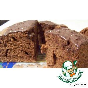 Рецепт: Шоколадно-сметанный кекс