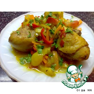 Рецепт: Курочка с карри и овощами
