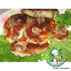 Рецепт: Картофельные котлеты с грибами