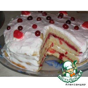 "Рецепт: Торт ""Белоснежка"""