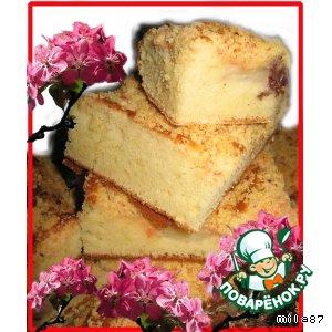 Рецепт: Пирог  Цветущая ветка сакуры..