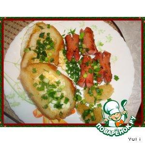 Рецепт: Бутерброды по-французски С добрым утром!
