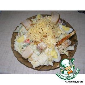 """Теплый салат из курицы """"С праздником!"""" – кулинарный рецепт"""