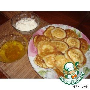Рецепт: Ванильные оладушки