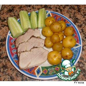 Рецепт: Мясо, запеченное в духовке