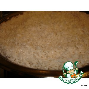 Рецепт: Каша рисовая