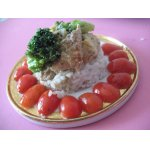 Курица в сливочно-грибном соусе с брокколи